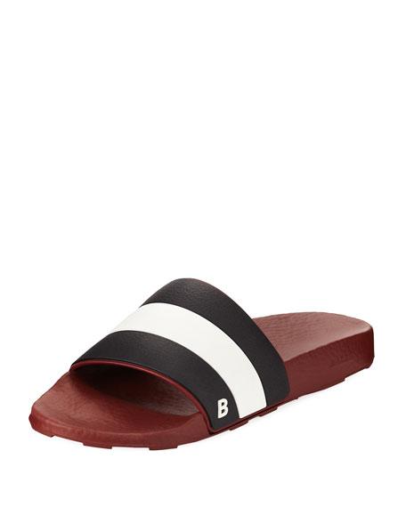 8eb89fe90df1bb Bally Sleter Rubber Slide Sandal