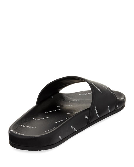 Allover Logo-Stamped Pool Slide Sandal
