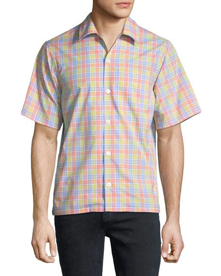 Multicolor Check Short-Sleeve Bowling Shirt