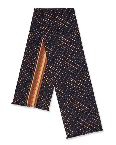 Men's Striped Silk Scarf