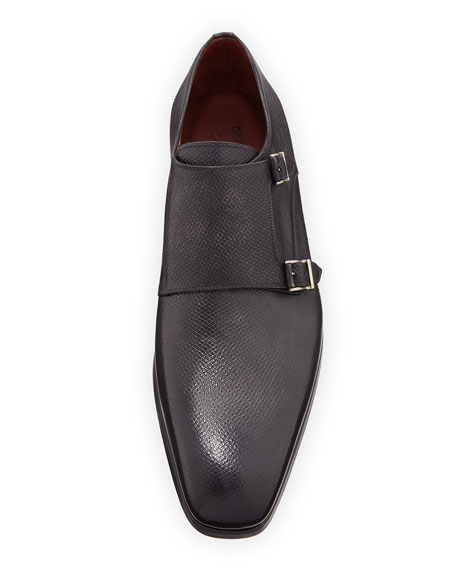 Textured Double-Monk Loafer
