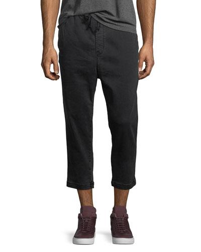 Men's Leo Drop-Crotch Drawstring Pants