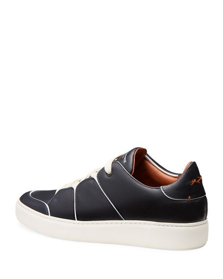 Tiziano Men's Leather Low-Top Sneakers, Navy