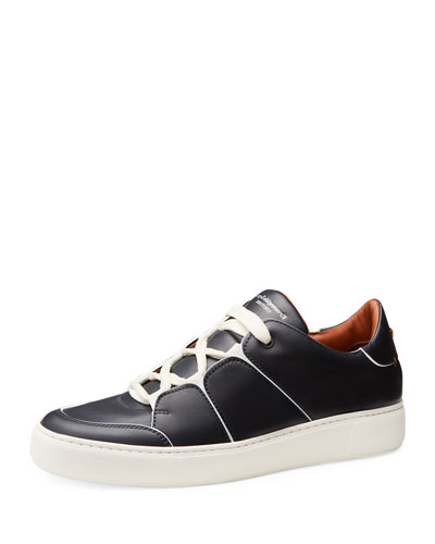 Tiziano Men's Leather Low-Top Sneakers  Navy
