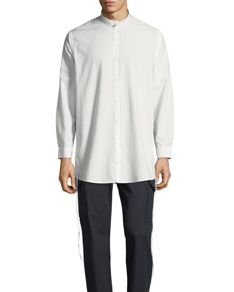 Men's Ull Mandarin-Collar Button-Front Shirt
