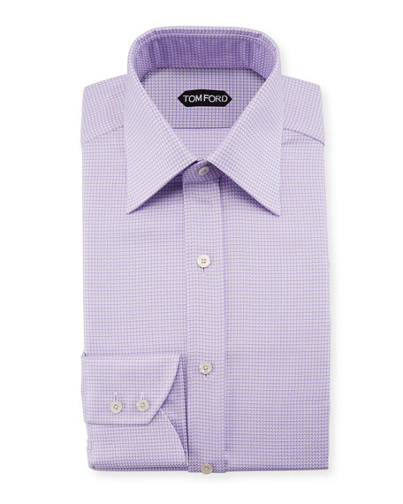 Image 1 of 1: Men's Houndstooth Dress Shirt