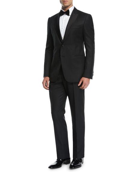 Men's Wool Tonal Chevron Two-Piece Tuxedo