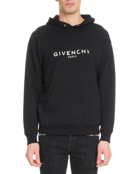 Men's Destroyed Logo Loopback Hoodie Sweatshirt