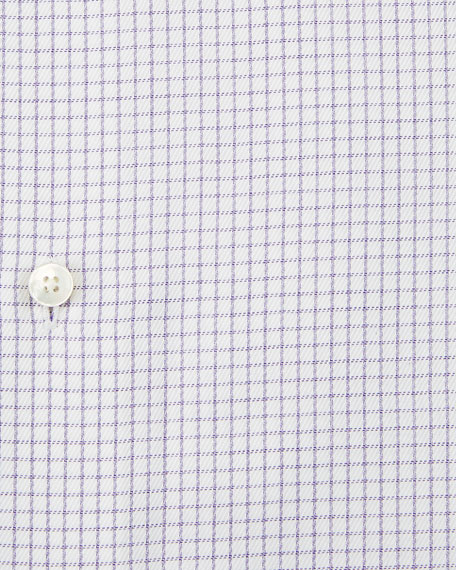 Men's Graph Check Dress Shirt, Purple