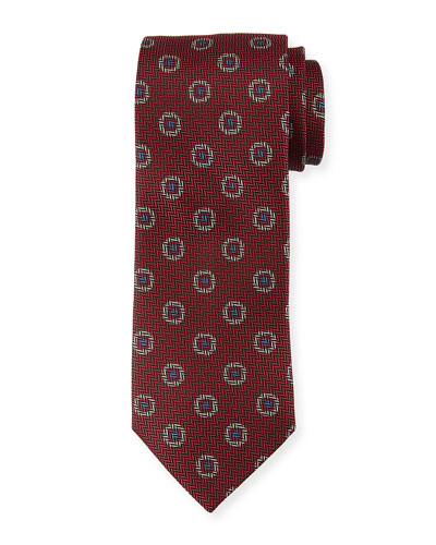 Tossed Pines Silk Tie  Pink