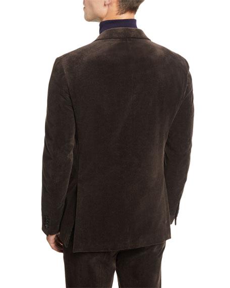 Men's Corduroy Two-Button Jacket