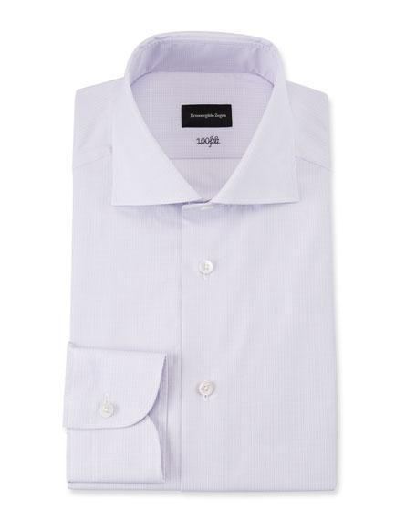 Men's 100fili Textured Solid Dress Shirt