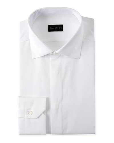 WHITE FORMAL SHIRT WITH COVE