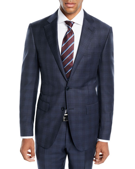 Image 1 of 1: Men's Trofeo® Wool Plaid Two-Piece Suit