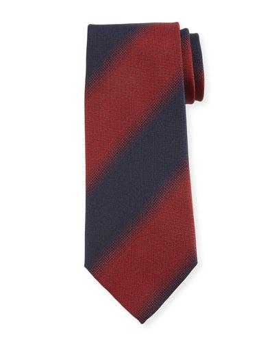 Shadow Striped Silk Tie  Red