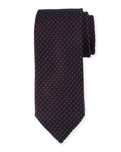 Basketweave Silk Tie