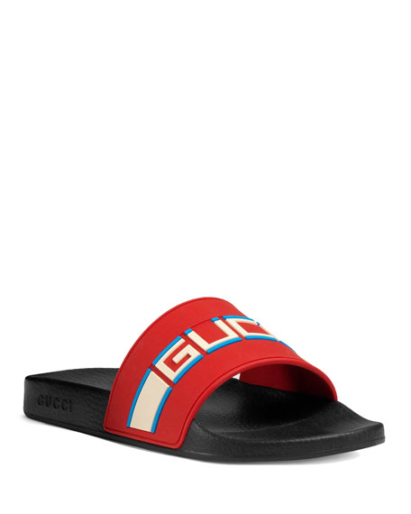 ee1a248a8dbd Gucci Gucci Stripe Rubber Slide Sandal