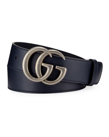 Men's Running GG Leather Belt