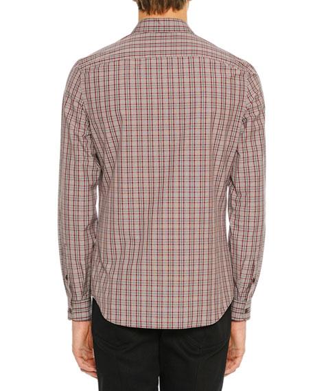 Men's Plaid Patch-Pocket Sport Shirt