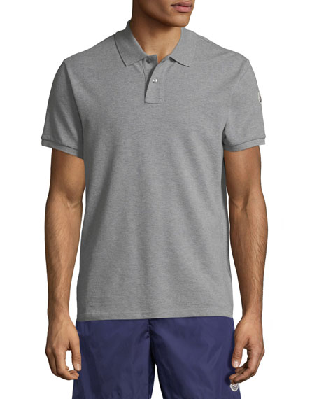 Image 1 of 1: Men's Striped-Neck Polo Shirt