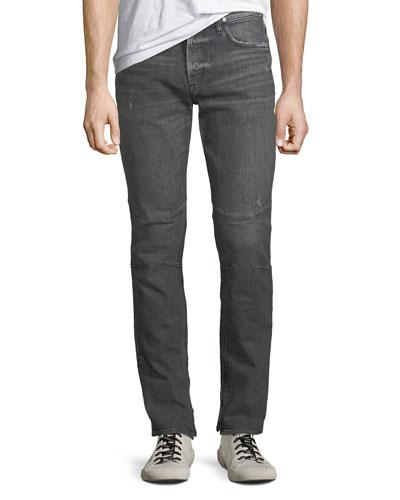 Men's Vaughn Distressed Skinny Ankle-Zip Jeans  Kingpin