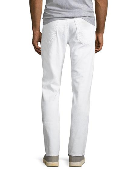 Men's Everett Slim-Straight Jeans in White