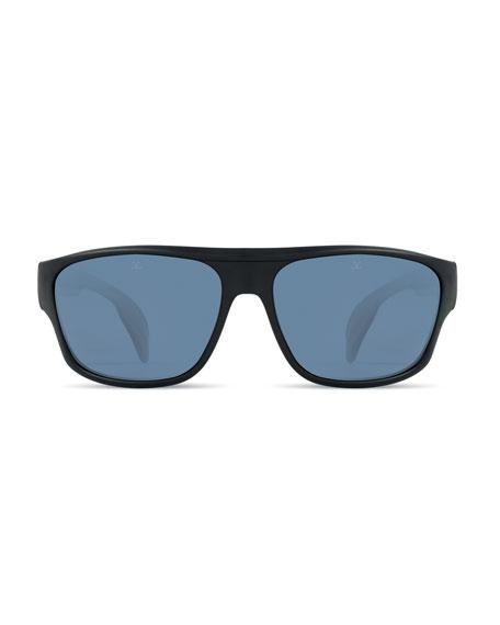 Men's Active Racing Large Nylon Wrap Sunglasses
