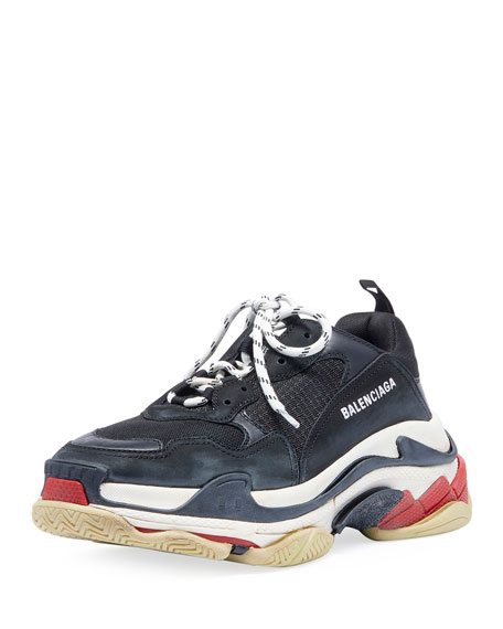 0b132954f Balenciaga Men s Triple S Mesh   Leather Sneakers