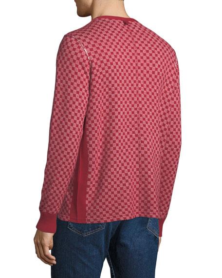 Men's Zack Checkerboard Henley Shirt
