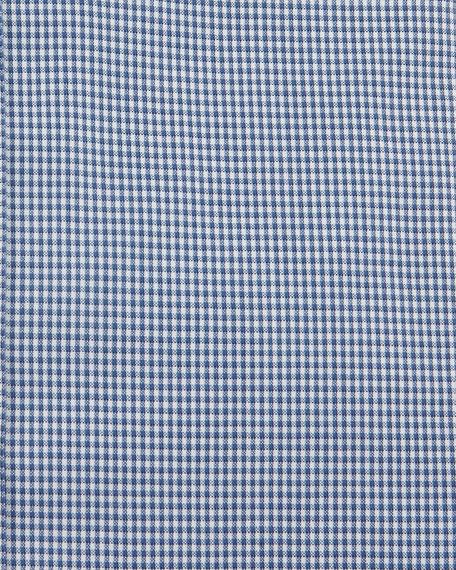 Men's Micro-Check Dress Shirt, Navy