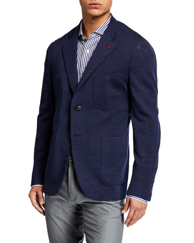 Men's Wool-Nylon Knit Blazer