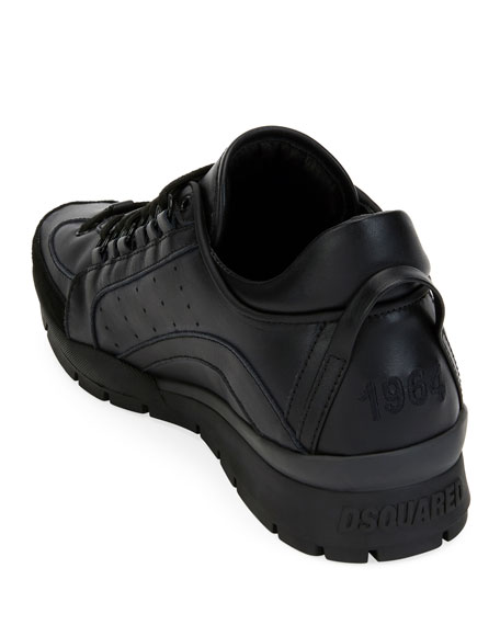 Men's High-Sole Calf Leather Training Sneaker