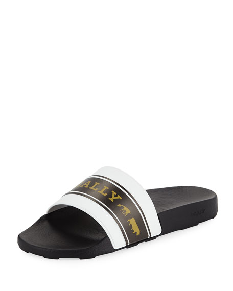 Bally Men's Ani 9 Rubber Pool Slide Sandals