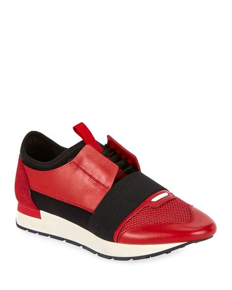 Balenciaga Men's Race Stretch-Sock Sneakers