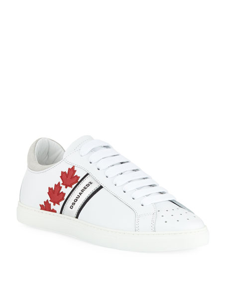 Dsquared2 Men's Low-Top Sneakers with Canadian Maple Leaf