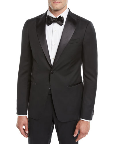 Men's Satin-Lapel Tuxedo Suit