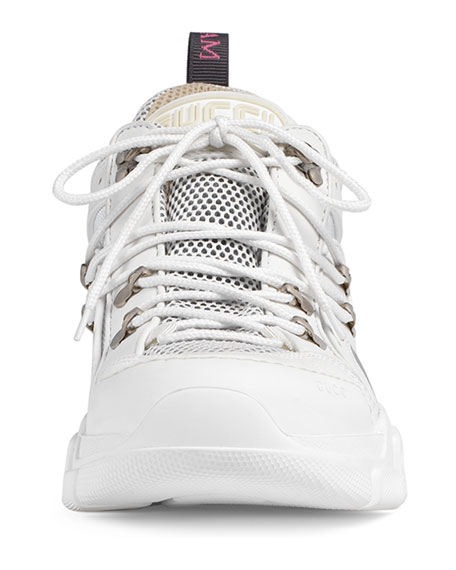 Leather and Canvas Sneaker