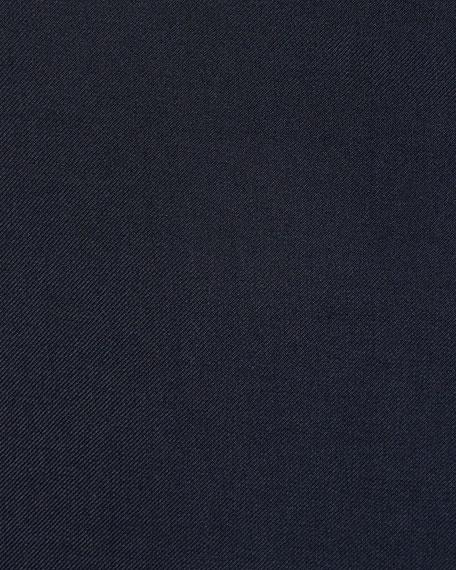 Men's Cashmere-Silk Two-Button Blazer Jacket, Navy