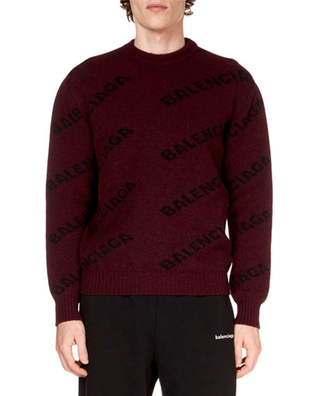 Men's Logo Intarsia Sweater