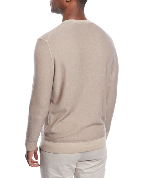 Men's Cashmere Garment-Dyed Sweater