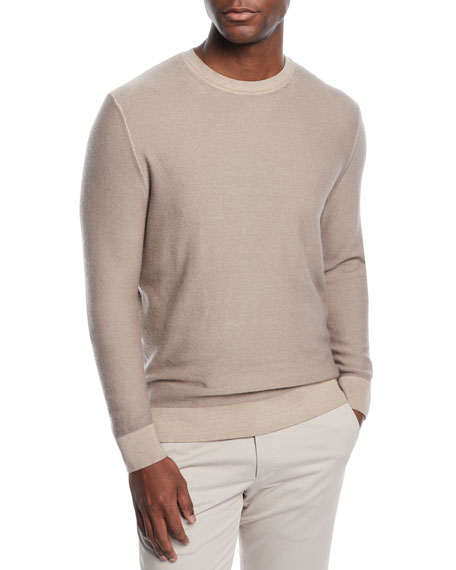 Image 1 of 1: Men's Cashmere Garment-Dyed Sweater