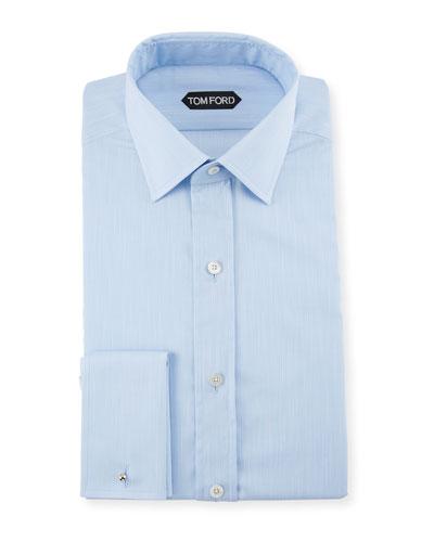Men's Striped Spread-Collar Dress Shirt