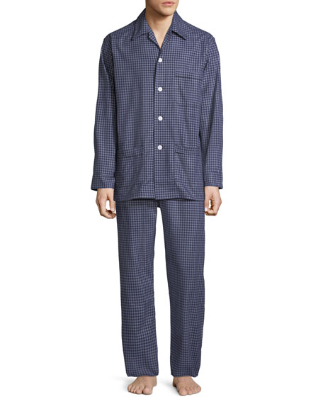 Image 1 of 1: Men's Braemar 32 Check Cotton Pajamas