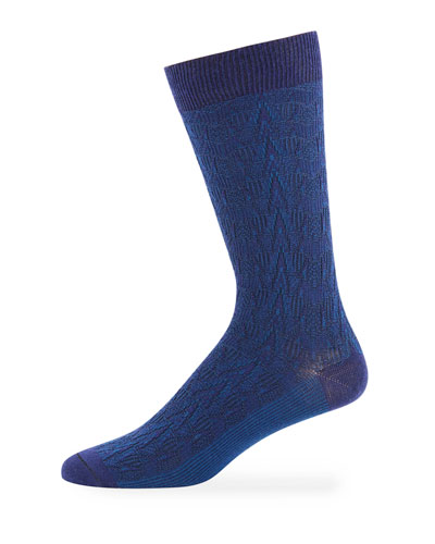 Men's CB Textured-Knit Wool-Blend Socks