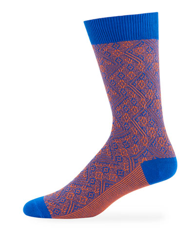 Men's Baxter Two-Tone Socks