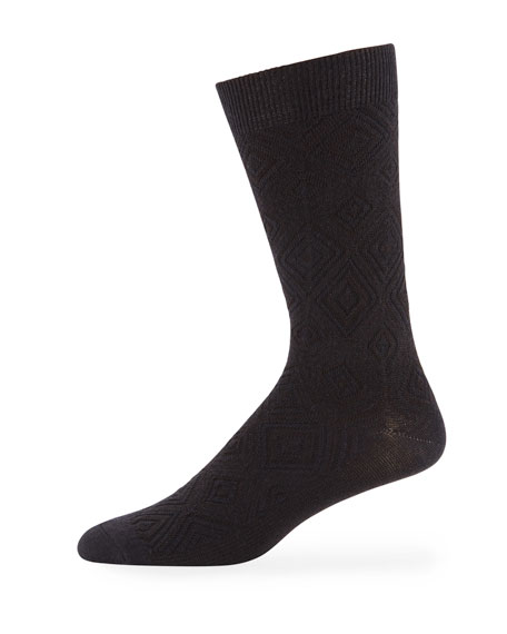 Men's MB Textured Wool-Blend Socks