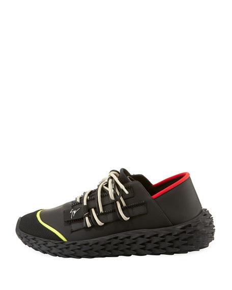 Men's Neoprene Textured-Sole Running Dad Sneakers