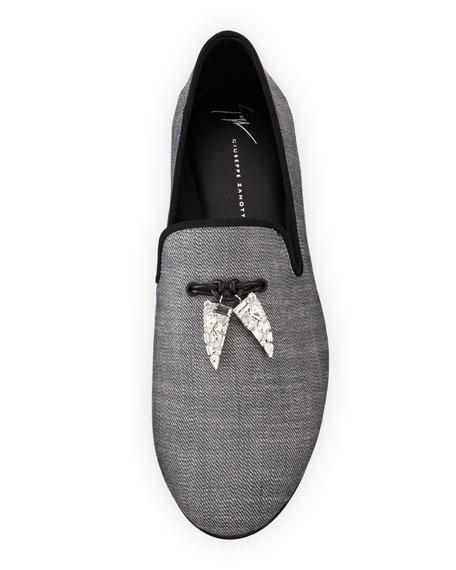 Men's Kevin Graphic Shark Tooth Tassel Loafer