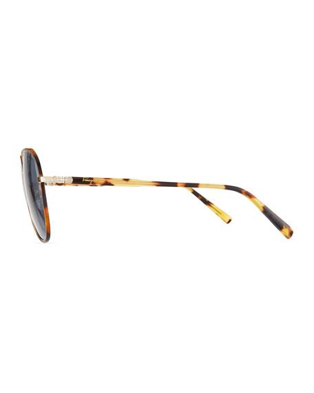 Men's Tortoiseshell Aviator Sunglasses