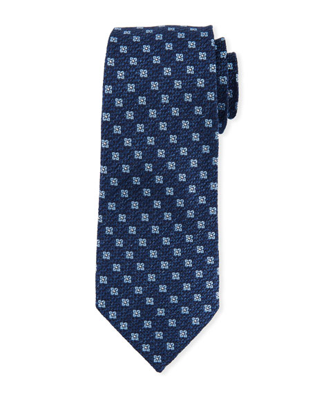 Image 1 of 1: Square Floral Silk Tie